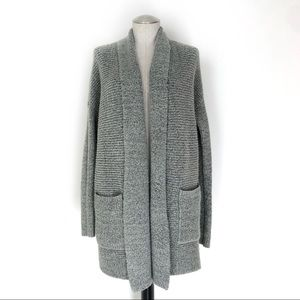 American Eagle Fluffy Open Cardigan Gray Size M